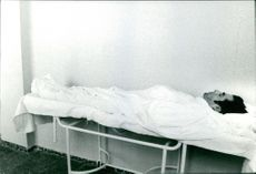 Matador José Mata lifeless on a stretcher.  - Sep 1971