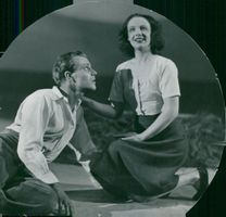 """Signe Hasso and Olov Widgren in """"Chastity"""" at Dramaten"""