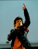 Mick Jagger during a Rolling Stones concert in Stockholm