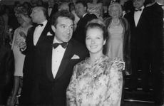 Marina Vlady with her husband Jean-Claude Brouillet.