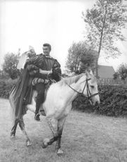 Jean-Claude Pascal enjoying horse riding.