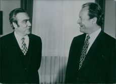 Willy Brandt, Federal Chancellor of West Germany (right) with the President of the European Commission, Francois-Xavier Ortoli.