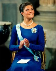 Crown Princess Victoria celebrates her 18th birthday at Stockholm Castle