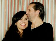 Actors Lena Olin and Peter Stormare
