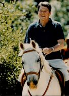Ronald Reagan by horse