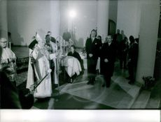 Family members of The House of Habsburg doing a mass.