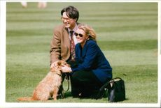 Annabel Heseltine with micheal.