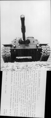 "Prototype of the ""M 70"" armor trolley"