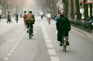 Cyclists will appear during the city traffic strike in Paris