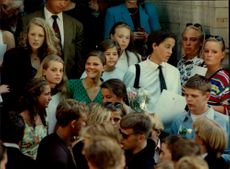 Crown Princess Victoria together with friends at school ending.