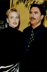 "Sharon Stone along with husband Phil Bronstein at the film premiere of the ""Sphere - The Boat"""