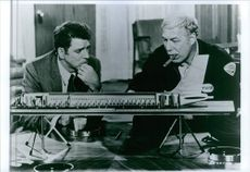 """Burt Lancaster and George Kennedy in a scene from the film """"Airport"""", 1970."""