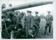 Defence Days, soldiers sitting on their artillery vehicle.  1944