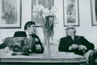 Karl (Kalle) Kinch, Swedish actor, theater director, director and operetta singer (tenor) together with son and director Olle Kinch.