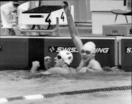 The swimmer Per Johansson after trying 100m