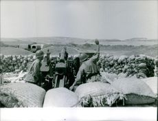 some soldier are taking preparation to launch missile in a battle field during Bizerte crisis. Photo taken on July 24, 1961.