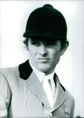 Portrait of British Showjumper Malcolm Pyrah, 1976.