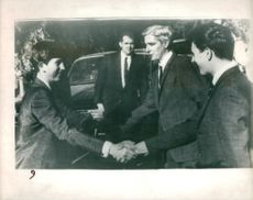 The Prince of Wales with Mr.Michael Hanley