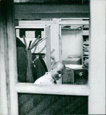 Photo of a man with leukemia from a window.  Taken - Feb. 1959