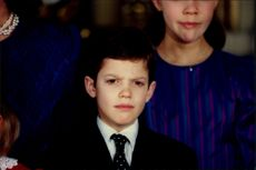 Portrait of Prince Carl Philip during the annual Christmas photography