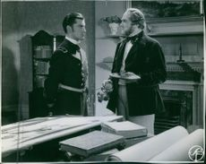 Kotti Chave and Victor Sjöström in a scene from the film John Ericsson - segraren vid Hampton Roads (John Ericsson - The Victor at Hampton Roads), 1937.