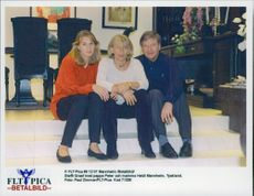 Steffi Graf with his mom and dad