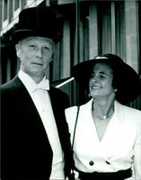 John Louism with his wife.