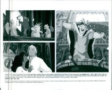 Scenes from the animated film The Hunchback of Notre Dame, 1996.