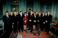 The IOC Evaluation Committee visited King Carl XVI Gustaf at the Stockholm Palace.