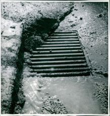 Melting snow becomes water down the drain - Ellen Dahlberg photography
