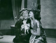 Nils Einar Poppe and Mimi Nelsoncene in the scene of the 1949 movie,