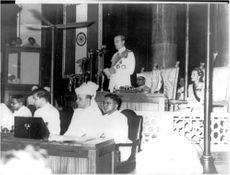 Lord Mountbatten i New Delhi Durbar Hall