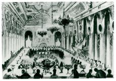 Illustration of Adolf Nordenskiöld's contemporary on great gala dinner
