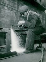 Georg Norberg at full speed with gas cutting