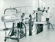 Here is the charge of the small research reactor FR0 in Studsvik
