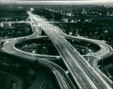 Traffic streaks along Westway