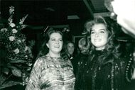 Actress Brooke Shields and her mother Teri at Charity Gala on Carousel Ball