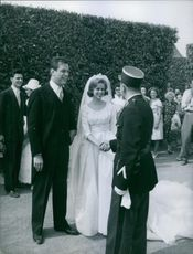Marriage Of Ines De Luynes With Napoleon Murat In 1960.