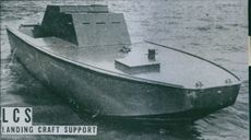 The LCS (Landing Craft Support) used ahead of the other craft in a landing operation.  - 1944