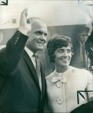 Lt. Col. John H. Glenn with his wife.