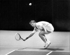 Nils Holm in action during the final against Fredrik Eliasson in Kungens Kanna 1989