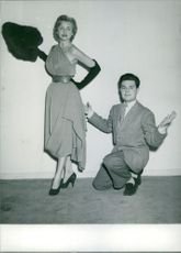 A man and a woman posing for the photograph.