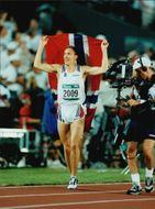Vebjörn Rodal after winning the Olympic Games in Atlanta in 1996