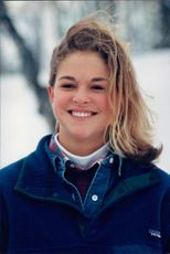 Portrait of the princess Madeleine at the royal family winter resort in Storlien