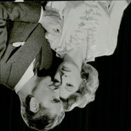 Portrait of actor Greer Garson with Ronald Colman