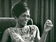 Eartha Kitt during a press reception in Appolonia Hotel