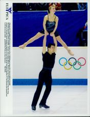 Winter Olympics in Nagano 1998. Figure skating. German couple Mandy Wotzel and Ingo Steuer