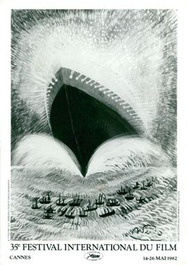 Federico Fellini's poster for the 35th Cannes Film Festival