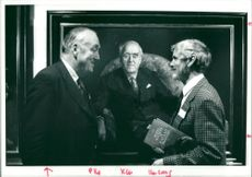 Viscount William Whitelaw discussing about his portrait