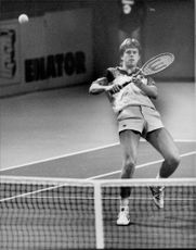 Stefan Edberg to semifinal in Stockhom Open 1985